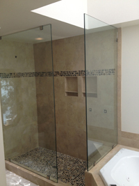 Shower Door After Installation