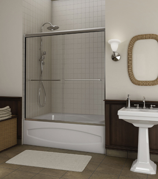 frameless glass shower door frameless bath shower combo glass shower doors - Tub Shower Doors