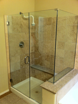 Frameless Glass Corner Shower Door